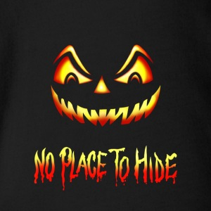 No Place To Hide Halloween Creeper Pumpkin - Organic Short-sleeved Baby Bodysuit