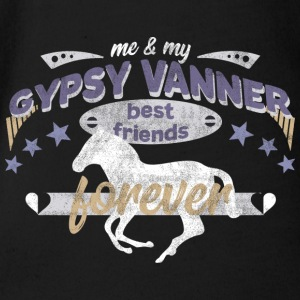 Gypsy Vanner PFerd Pony horse best friends - Organic Short-sleeved Baby Bodysuit