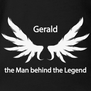 Gerald the Man behind the Legend - Organic Short-sleeved Baby Bodysuit