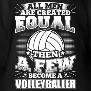 Funny Volleyball Player Shirt All Men Equal - Baby Bio-Kurzarm-Body