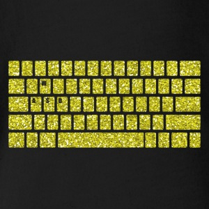 Computer Keyboard WASD Gaming PC Multiplayer Skill - Organic Short-sleeved Baby Bodysuit