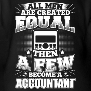 Funny Accounting Accountant Shirt All Men Equal - Organic Short-sleeved Baby Bodysuit