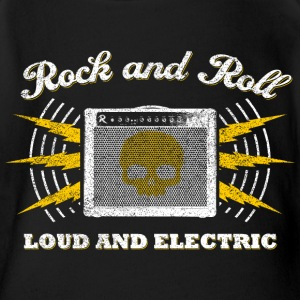 Rock and Roll. Laut und Electric (getragen) - Baby Bio-Kurzarm-Body