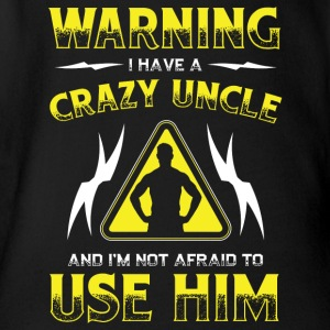 Warning crazy Uncle! Funny! Onkel! - Baby Bio-Kurzarm-Body
