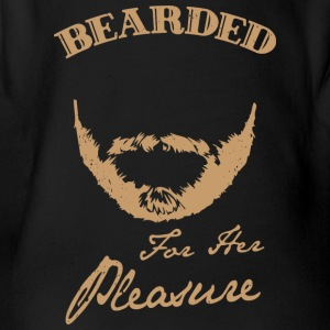 Bearded for her pleasure - bearded - Organic Short-sleeved Baby Bodysuit
