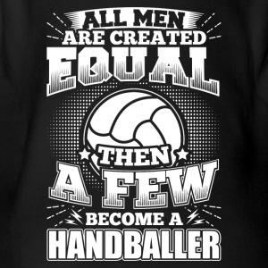 Funny Handball Handballer Shirt All Men Equal - Baby Bio-Kurzarm-Body