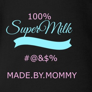 super transparent milk - Organic Short-sleeved Baby Bodysuit