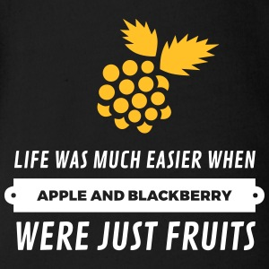When Cell Phones Were Just Fruits! - Organic Short-sleeved Baby Bodysuit