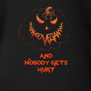 go vegan and nobody gets hurt Halloween - Organic Short-sleeved Baby Bodysuit
