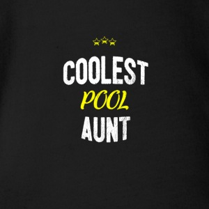 Distressed - COOLEST PISCINE TANTE - Body bébé bio manches courtes
