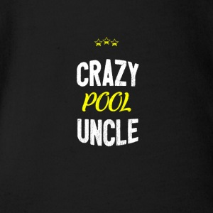 Distressed - CRAZYPOOL UNCLE - Organic Short-sleeved Baby Bodysuit