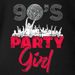 90 de Party Girl Retro Vintage Distressed - Body bébé bio manches courtes