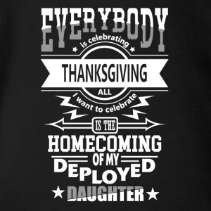 Statonous Daughter Patriot Military Thanksgiving - Organic Short-sleeved Baby Bodysuit