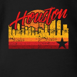 Houston Baseball Throwback Astro Stripe - Baby bio-rompertje met korte mouwen
