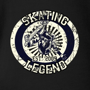 Skateboarder Skating Legend Board 2009 - Organic Short-sleeved Baby Bodysuit