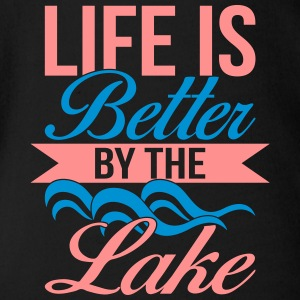 Life is better by the lake - Organic Short-sleeved Baby Bodysuit