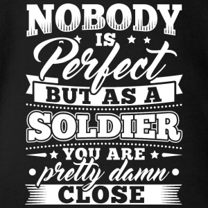 Funny Soldier Army Shirt Nobody Perfect - Baby Bio-Kurzarm-Body