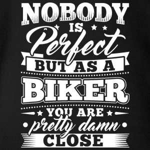Funny Motorcycle Bike Shirt Nobody Perfect - Organic Short-sleeved Baby Bodysuit