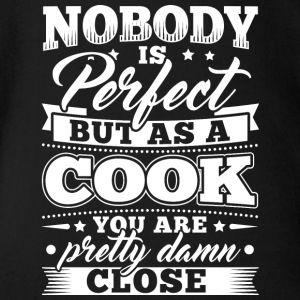 Funny Cook Cooking skjorte Nobody Perfect - Økologisk kortermet baby-body