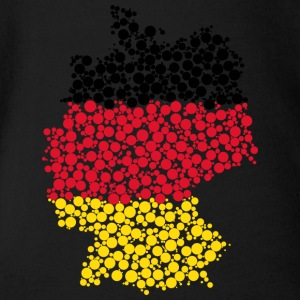 Germany map - Organic Short-sleeved Baby Bodysuit