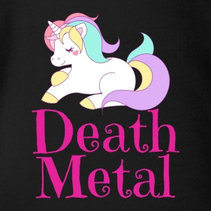Death Metal Einhorn Unicorn - Baby Bio-Kurzarm-Body