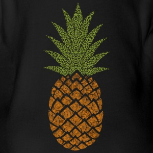 pineapple - Organic Short-sleeved Baby Bodysuit