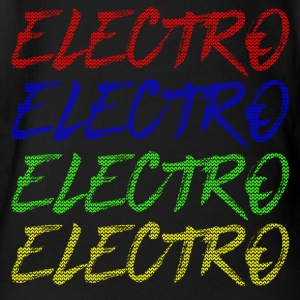 Electro Xmas Special - Party Music Festival Techno - Organic Short-sleeved Baby Bodysuit