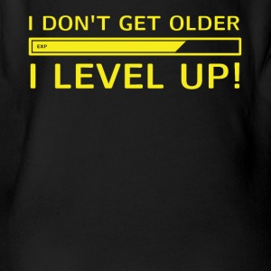 I Level Up! Gamer T-Shirt - Organic Short-sleeved Baby Bodysuit
