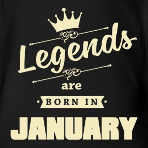 Legends are born in January - Baby Bio-Kurzarm-Body