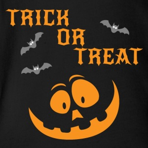 Trick Or Treat - Organic Short-sleeved Baby Bodysuit