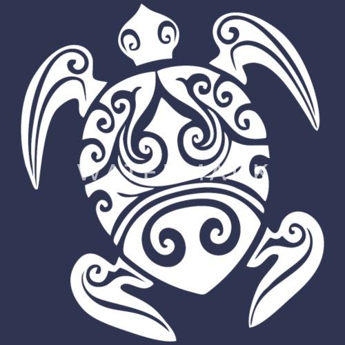 Maori Tattoo Schildkröte Weiss Baby Bio Kurzarmbody Spreadshirt