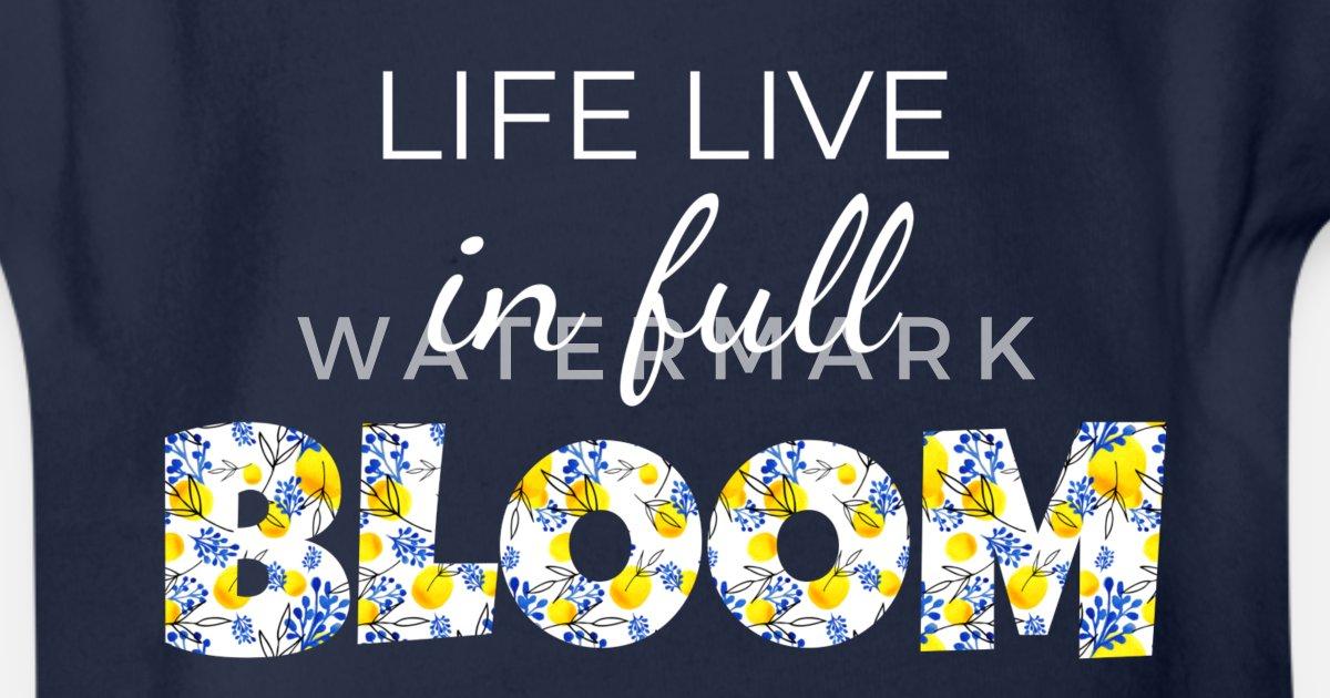 97e145be Livet lever i full blomst Økologisk kortermet babybody | Spreadshirt