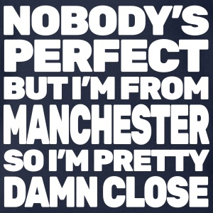 NOBODY'S PERFECT except MANCHESTER - Organic Short-sleeved Baby Bodysuit