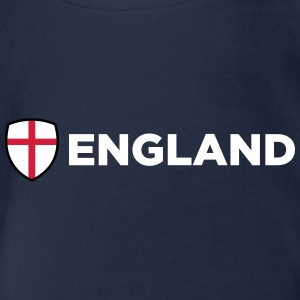 National Flag Of England - Organic Short-sleeved Baby Bodysuit