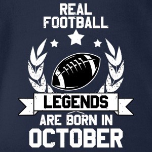 Real Football Legend Legend! Birthday! Birthday - Organic Short-sleeved Baby Bodysuit
