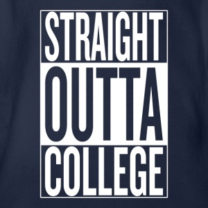 Straight outta college original - Organic Short-sleeved Baby Bodysuit