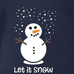 Let it snow - Baby Bio-Kurzarm-Body