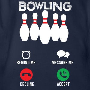 Bowling calls - Organic Short-sleeved Baby Bodysuit