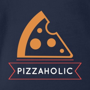Pizza addicted - Organic Short-sleeved Baby Bodysuit