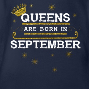 queens born SEPTEMBER - Baby Bio-Kurzarm-Body