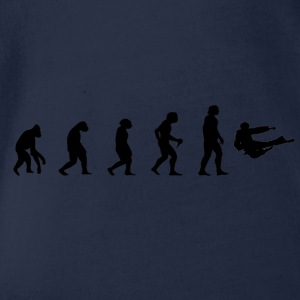 Fighting Evolution Evolution MMA Kick Fighting Martial Arts - Organic Short-sleeved Baby Bodysuit