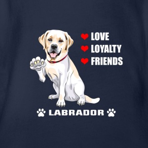 Dog T Shirt | Labrador - Love - Loyalty - Friend - Organic Short-sleeved Baby Bodysuit