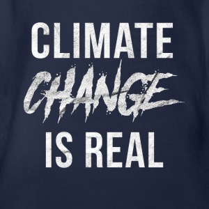 Climate change is a climate climate disaster - Organic Short-sleeved Baby Bodysuit