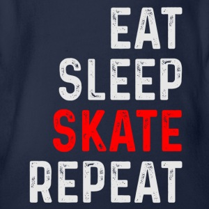 EAT SLEEP SKATE REPEAT SKATE SHIRT - Organic Short-sleeved Baby Bodysuit