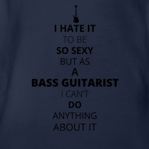 BASS GUITARIST - Organic Short-sleeved Baby Bodysuit