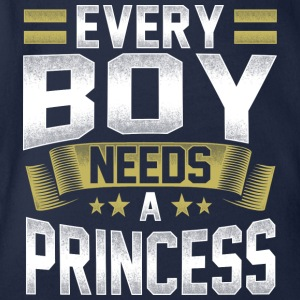 Every boy man needs a princess girlfriend - Organic Short-sleeved Baby Bodysuit