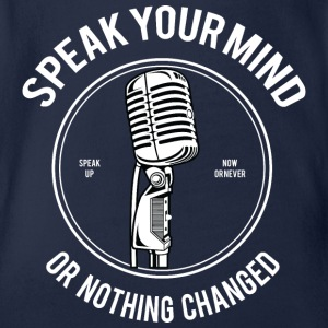 Speak Your Mind - Baby bio-rompertje met korte mouwen