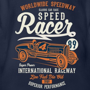 Speed ​​Racer 1 2 - Organic Short-sleeved Baby Bodysuit
