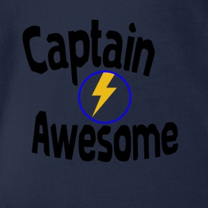 I am captain awesome - Organic Short-sleeved Baby Bodysuit