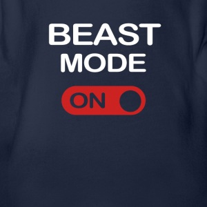 BEAST MODE - Organic Short-sleeved Baby Bodysuit